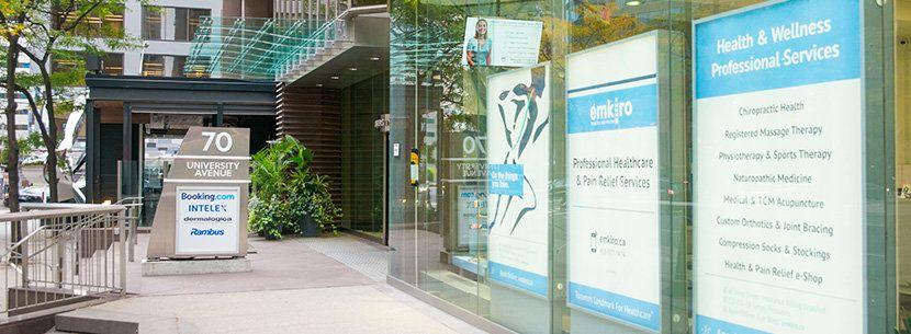 clinic exterior 70 university ave toronto location