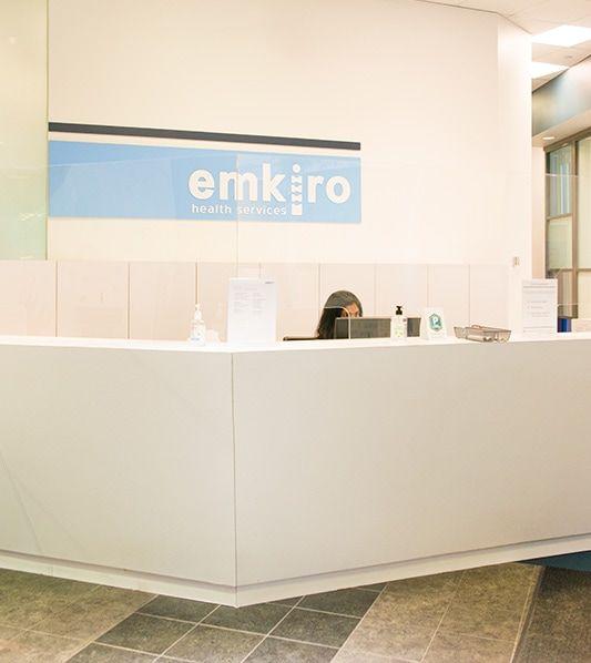 clinic receptionist desk