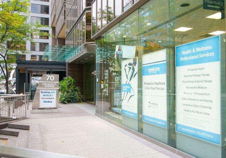 emkiro clinic exterior 70 university sign