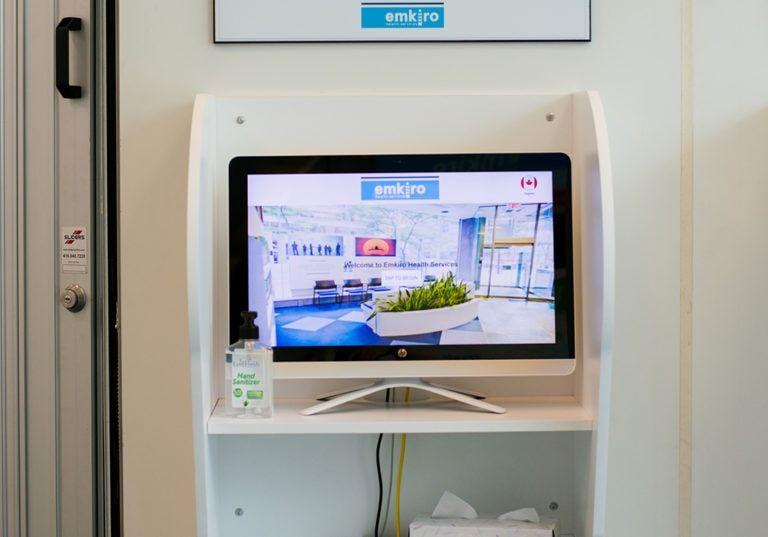 patient registration kiosk in reception lg