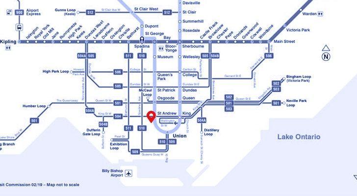 ttc map with emkiro marker