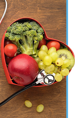 nutritional food with stethescope